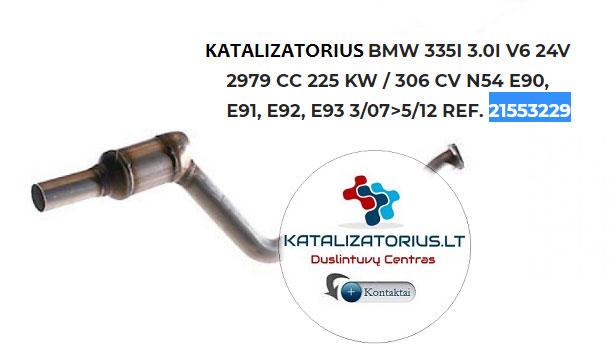 bmw katalizatorius e90 trecios kartos benzinas 225 kw